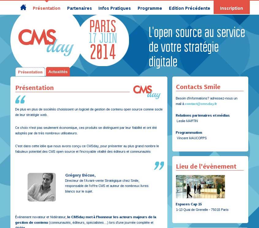 CMSday 2014 : Troisième édition du salon CMS Open Source