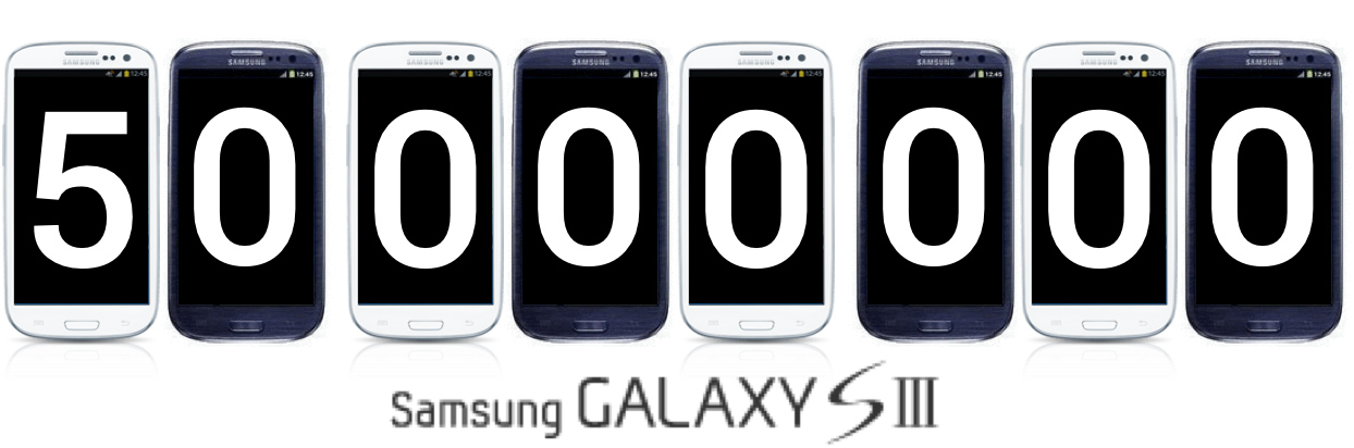 Galaxy S3 plus de 50 millions d'unités vendues !