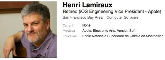 Henri Lamiraux quitte d'Apple !