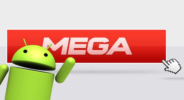 Lancement de l'application Android de Mega