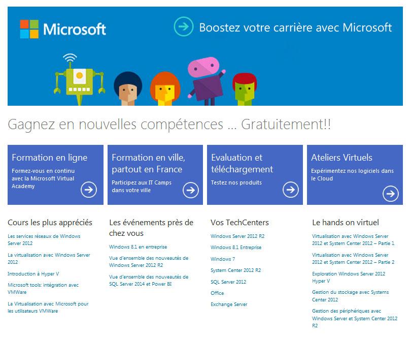 Microsoft : Formez vous gratuitement !