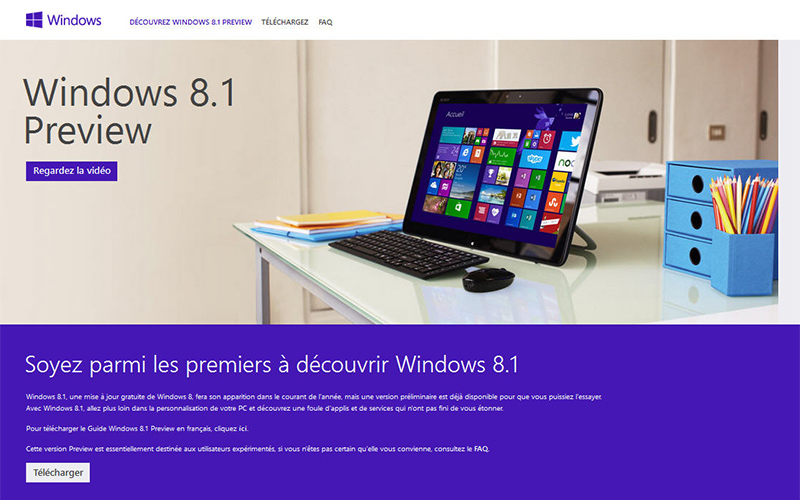 Windows 8.1 Preview disponible au téléchargement