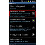 Android 2.3.6 : Samsung Kies Air désactiver la demande d'accès au smartphone