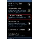 Android 2.3.6 : Samsung Kies Air désactiver la visibilité du smartphone sur le réseau local