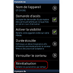 Android 2.3.6 : Samsung Kies Air réinitialiser les paramètres par défaut