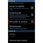 Android 2.3.6  : Samsung Kies Air verrouiller les contenus