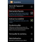Android 4.0.4 : Samsung Kies Air désactiver la demande d'accès au smartphone